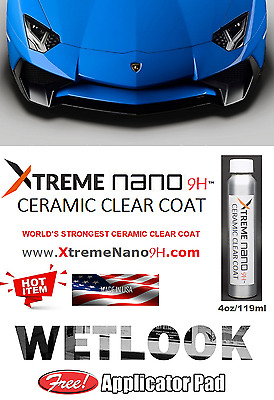 WORLD'S STRONGEST 9H CERAMIC CLEAR COATING (HIGH GLOSS) - 4oz/119ml  MADE IN USA