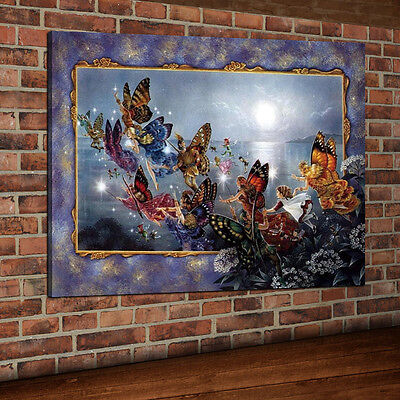 Butterfly Kingdom Picture Oil Painting Art Print Canvas Wall Home Decor Unframed