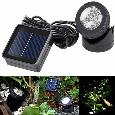 Solar Spotlights 6 LED Underwater Projection Lights Garden Outdoor Pond Lighting