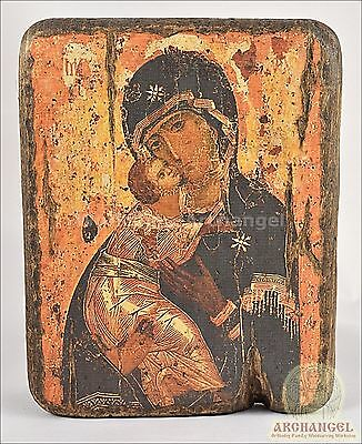 Orthodox Wooden Handmade copy ancient icon Vladimir Mother of God 7.8""