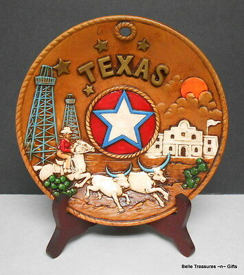 State of Texas Ceramic Western Collector Plate