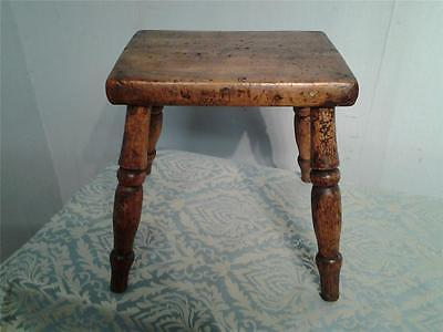Sweet little antique rustic milking stool in elm