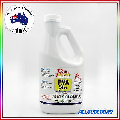 1L OZ Made NON TOXIC PVA Glue Washable adhesive for SLIME Non Staining