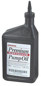SET OF 2 High Vacuum Pump Oil, Quart ROBINAIR 13203 Premium