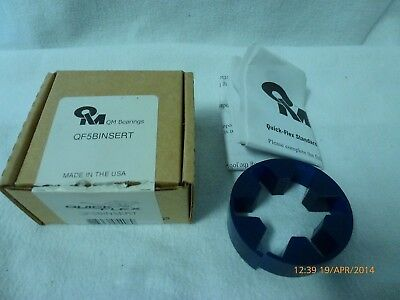 QM Bearings Blue Brute Quick Flex QF5BINSERT Insert for QF5 Bearing New