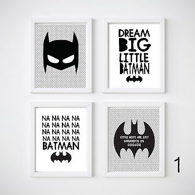 Batman Nursery Print, Kids Wall Decor, Bedroom Prints