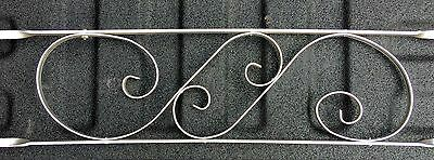 "Aluminum Screen Door Scroll Grille Vtg Mid Century Push Bar 34"" X 6.5"""