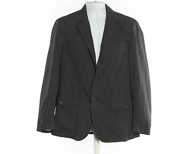 Men's BLACK BROWN 1826 Cotton Blend Blazer Coat Size M