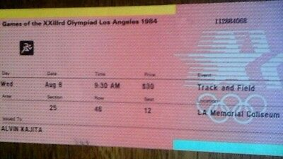 Olympics 8/8/1984 Track And Field Los Angeles  Carl Lewis Wins 200 Metres