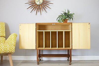 DELIVERY£50 Mid Century Retro Danish Style Teak Sideboard TV Unit Record Cabinet