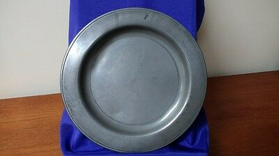 """Pewter Plate, Single Reed, 12"""""""