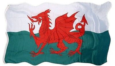 Welsh Wales Fabric Flag National Souvenir Gift Cymru Red Dragon 5ft x 3ft