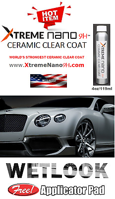 """CERAMIC COATING CAR PAINT 9H PROTECTION  """"WET LOOK""""  -  4 oz/119ml  MADE IN USA"""