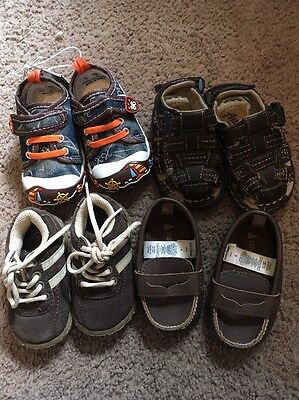 Lot of Four 4 Baby Boy Toddler Shoes Sandals Flip Flops Water Size 3/4