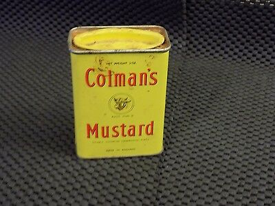 Vintage Colman's mustard tin with minor content