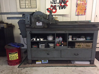 Vandercook 4T Letterpress Printing Press with SPARE set of form rollers