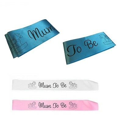 Baby Shower Sash Mummy To Be Sash Mum Party Satin Mom Gift Ribbon Accessory Boy