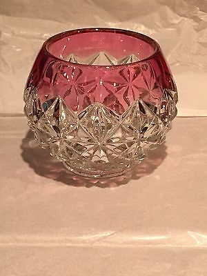 Kings Crown Cranberry Glass Bowl