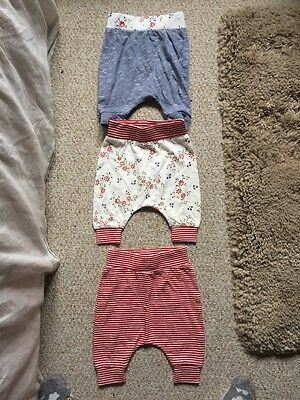 Baby Girl,0-3 Months,next,3x Leggings,pants. New & Used .red/blue