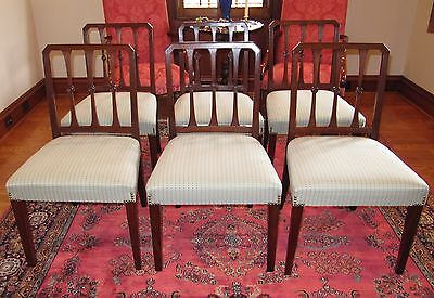 Set of 6 late 18th early 19th century Georgian dining chairs