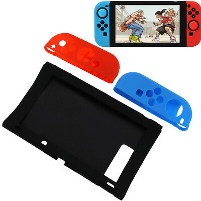 For Nintendo Switch Case,new Shockproof Anti-slip Soft Silicone Back Skin Cover