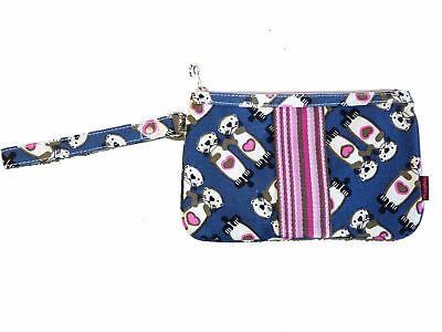 Bungalow360 Canvas Striped Wristlet - Sea Otter