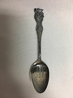 Baker Manchester Sterling Souvenir Spoon Convention Hall Kansas City Indian