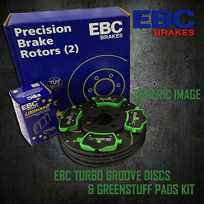 NEW EBC 288mm FRONT TURBO GROOVE GD DISCS AND GREENSTUFF PADS KIT KIT6677