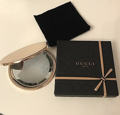 Gucci LadiesGold Double Compact Mirror