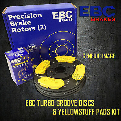NEW EBC 300mm FRONT TURBO GROOVE GD DISCS AND YELLOWSTUFF PADS KIT PD13KF314