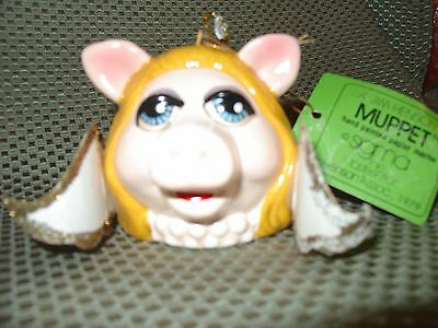 Sigma 1979 Miss Piggy hand painted paper mache with tag