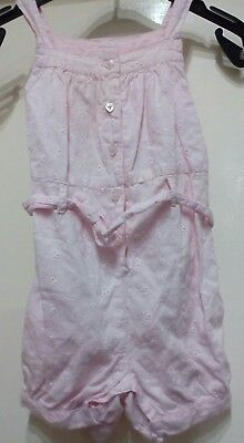 """Baby Girl dungaree shorts age 6-9 months """"F&F"""""""