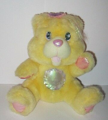 1995 Twinkle Bears Yellow Sunshine Fantasy Light Up Bear Plush Stuffed Animal