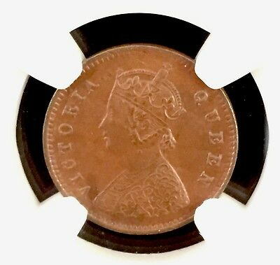 1862 C India 1/12 Anna Ngc Ms63 Brown Pop.4