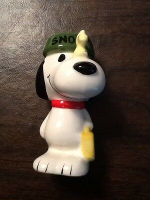 1966 Vintage Snoopy Woodstock Traveling Pals Ceramic- Schulz Determined- Japan
