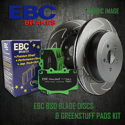 NEW EBC 256mm REAR BSD PERFORMANCE DISCS AND GREENSTUFF PADS KIT PD16KR074