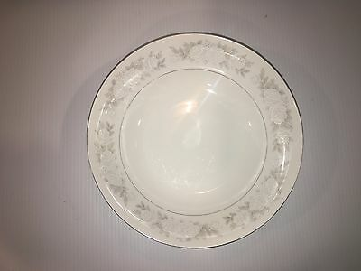 """Fine China Of Japan Adele 3736 White Roses and Silver Bowl 7 1/2"""""""