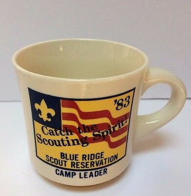 VTG Boy Scouts of America Blue Ridge Scout Reservation'83 Camp Leader Coffee Mug