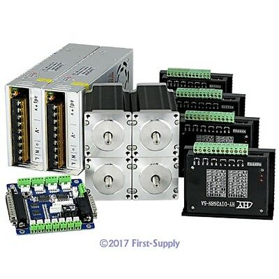 Revolutionary 5A TB6600HG Stepper Controller CNC Kit 4 Axis Nema23 2.5Nm Motor