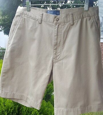 """Polo Ralph Lauren Men's """"Prospect"""" Classic Fit Flat Front Chino Shorts Size 33"""