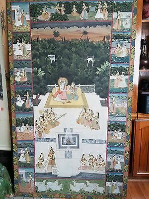 Old India Mughal Painting Hand Painted Asia Painting