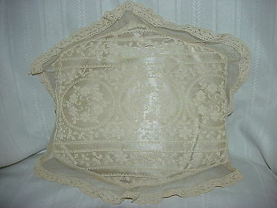 French Tambour Normandy Net Lace Boudoir Pillow - NICE