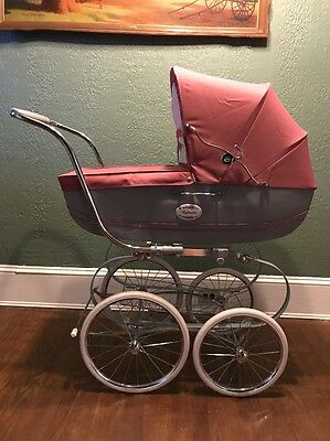 Inglesina Classica Pram Baby Buggy Carriage Stroller Brand Pink/Gray! Beautiful!