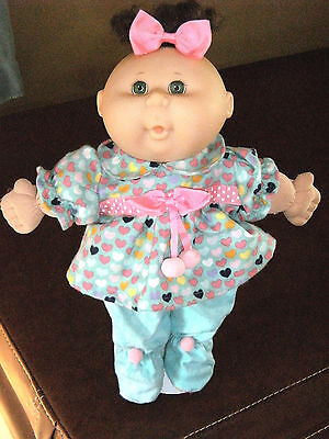 "14"" Cabbage Patch Preemie Doll Clothes~Footed PJ's/Pajamas/Outfit/Hair Bow~HEART"