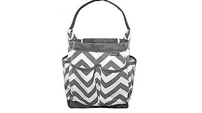NEW Finwings Diaper Caddy Baby Bag White And Gray Chevron