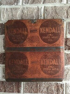 Lot #11 / Vintage Kendall Sign / Gas And Oil / Oil Can  / Flat