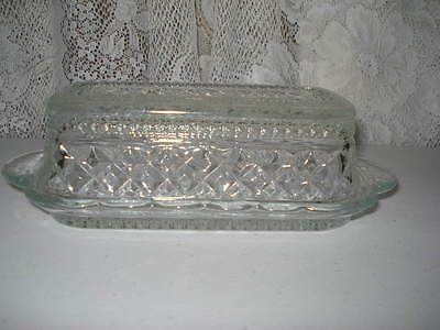 Beautiful Wexford Crystal Glass Covered Butter Dish