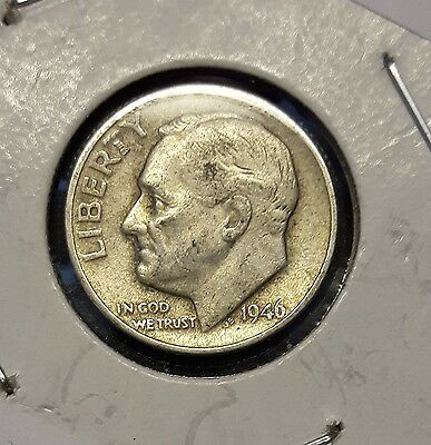 1946 Roosevelt 90% Silver Dime - 10 Cents