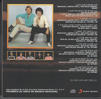 CD sleeve 70s 80s AIR SUPPLY Now and forever YOUNG LOVE she never heard me call