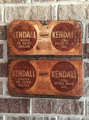 Lot #33/ Vintage Kendall Sign / Gas And Oil / Oil Can  / Flat